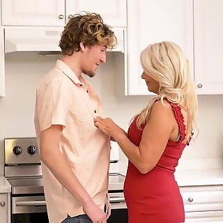 Hungry mature mom sucks and fucks lucky son