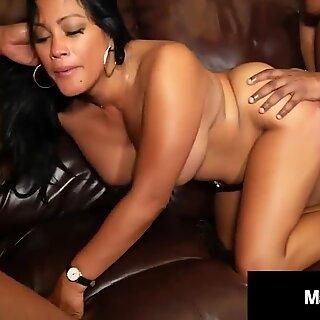 Hot Asian Maxine X Milks Seven Big Black Walking Dead Dicks?