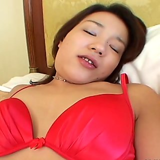 Wet Asian cunt exposed in a close up view