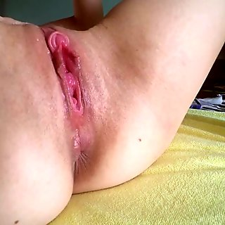 clit pump best clitoris erection - gaping close up - fingering hairy pussy
