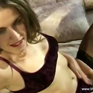 Stepmom Tiffany bounce on stepsons cock