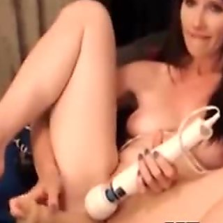 Vibrator on her Clit and Dildo in her Pussy