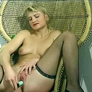 Young Blond Frauke Rubs Her Clit Hard