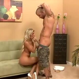Busty belle Milf Kendall Brooks gets her tight snatch pounded by gigantic cock