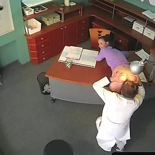 Rimmed euro bent over and fucked by doctor