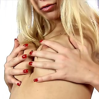 Anal play for pretty blonde in tiny hotpants