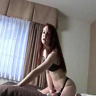 Naughty solo girl fucking her own pussy