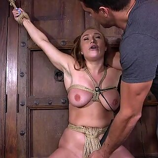 Big tits babe dominated outdoor