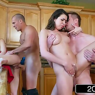 Whoring Wives Melissa Moore & Riley Reid exchange spouses at Dinner party