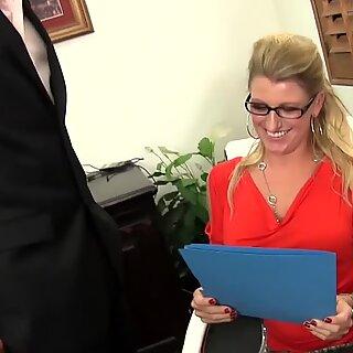 Blonde MILF with big tits enjoying hardcore sex