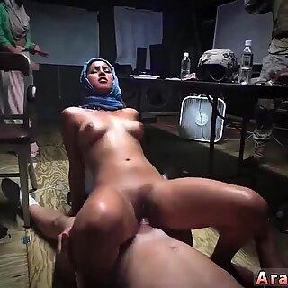 Hairy arab fuck Sneaking in the Base!
