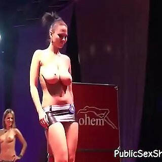 Hot strippers walking in sexy lingerie