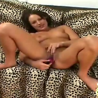 Tight pink clit gets penetrated by a pink toy